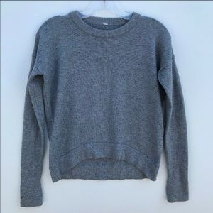 Lululemon crewneck high low sweater